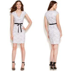 NWOT Calvin Klein Cap-Sleeve Lace Sheath Dress